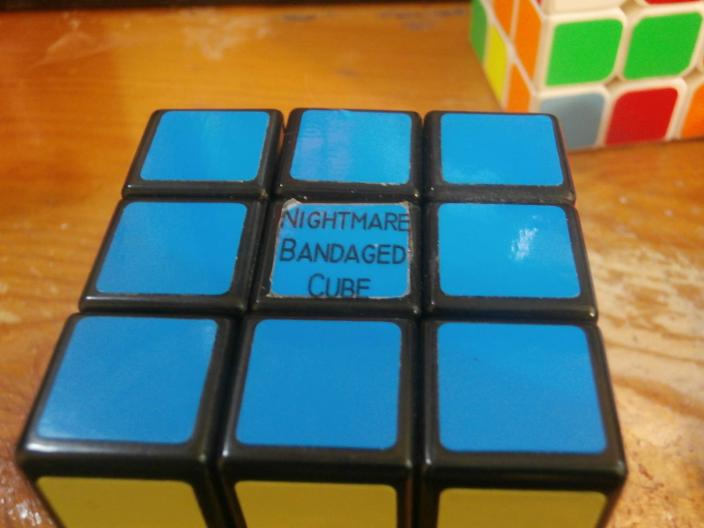 This is the Nightmare bandage cube which is very hard to solve.